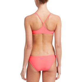 Nike Swim Essential Racerback Bikini Set Dames, pink gaze